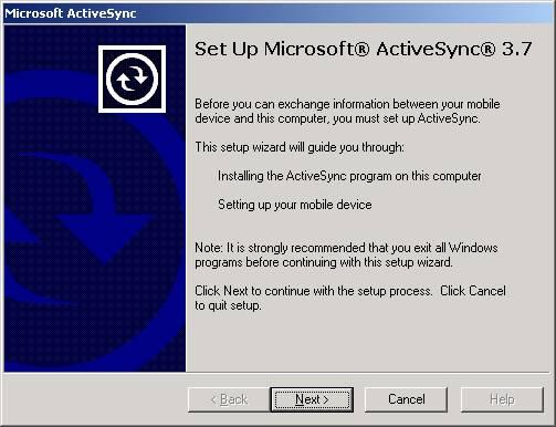 microsoft activesync 3.7.1