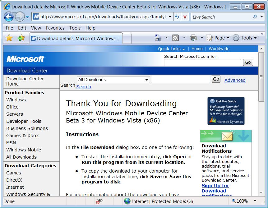 windows mobile device center installation rh pocketpcfaq com Windows 2000 Mobile Windows Mobile 6.1