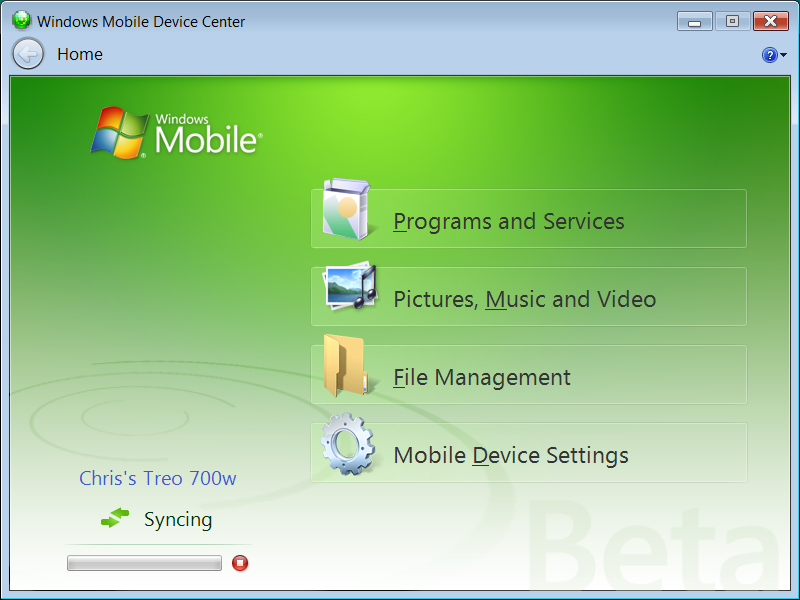 Microsoft windows mobile help synchronize device center download java update for windows mobile