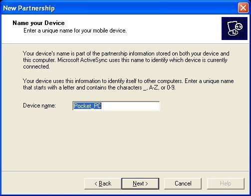 ActiveSync & Unique Partnership Name