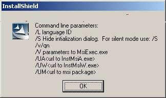 installshield silent command line parameters